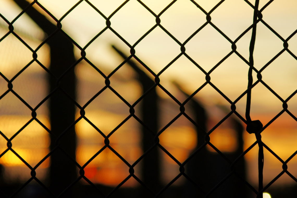 Chain Link Sunset