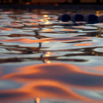 In the Pool at Sunset